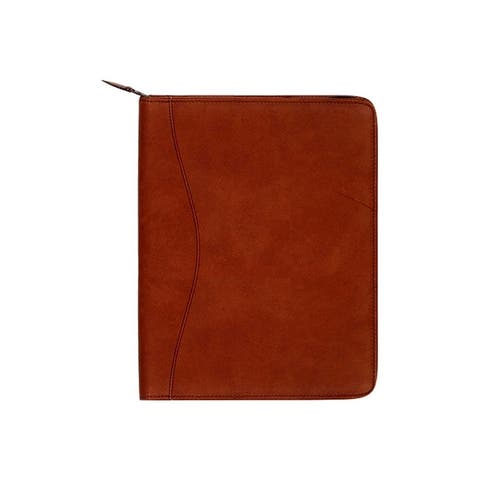 Scully Western Planner Canyon Leather Zip Closure Brown - One Size