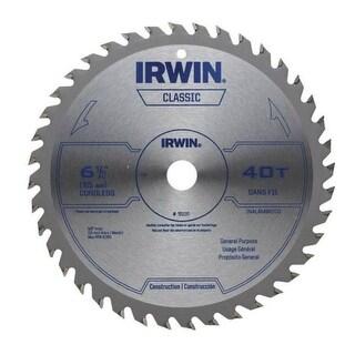 """Irwin 15220 Classic Series Circular Saw Blade, 6-1/2"""", 40-Teeth"""