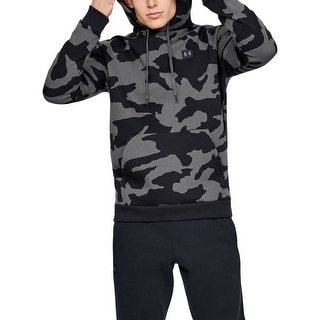 Link to Under Armour Mens Sweater Black Gray Size Large L Fleece Camo Hoodie Similar Items in Athletic Clothing