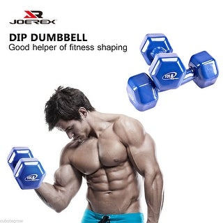 10LB Wrapped PVC DUMBBELL Body Fitness Hand Weight Training Home Gym Exercise US