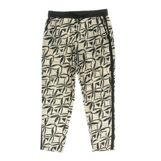 Calvin Klein Womens Printed Tapered Leg Casual Pants