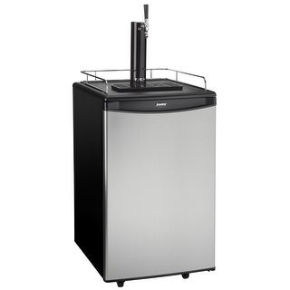 "Danby DKC054A1 21"" Wide 5.4 Cu. Ft. Full Size Free Standing Kegerator with Single Tap - Black/Steel"