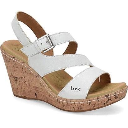 B.O.C Womens Schirra Leather Open Toe Casual Platform Sandals