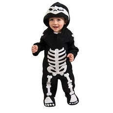 Infant Skeleton Gothic Baby Halloween Costume