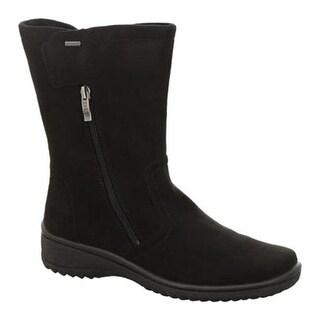 ara Women's Mayfield 48536 GORE-TEX Boot Black Microsuede