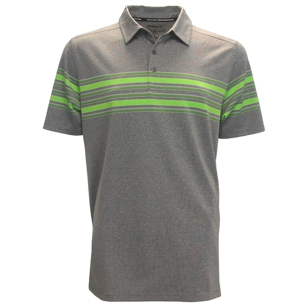 83f4fdbbcf7337 Shop Skechers GoGolf Club Face Chest Striped Polo Shirt - Free Shipping On  Orders Over $45 - Overstock - 21127790