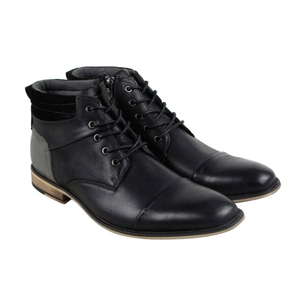 ddb2310424c Shop Steve Madden Javier Mens Black Leather Casual Dress Lace Up ...