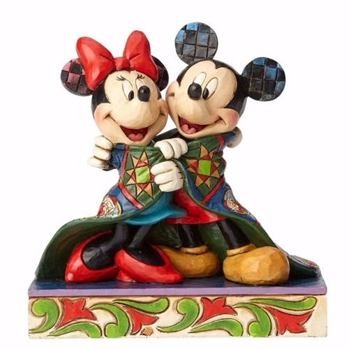 Mickey and Minnie Wrapped in Quilt