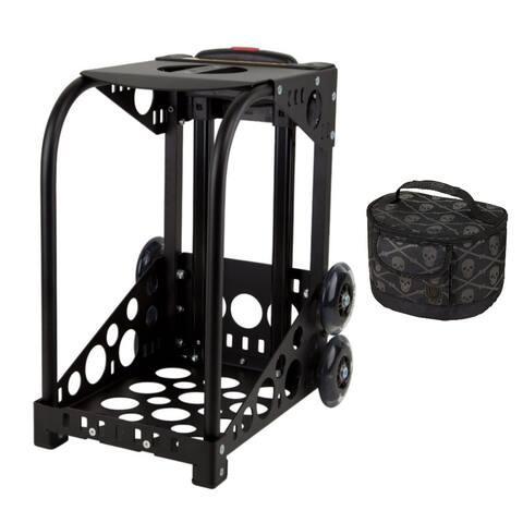 "Zuca Black Sport Frame w/ Built-In Seat, NonFlashing Wheels & Lunchbox - 18"" x 10"" x 13"""
