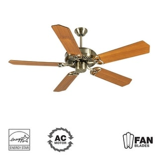"""Craftmade K10923 CXL 52"""" 5 Blade Energy Star Indoor Ceiling Fan - Blades Included - Antique Brass"""