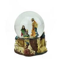 "5.5"" Nativity Scene Religious Musical Christmas Snow Globe - Multi"