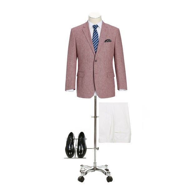Mens Classic Fit Blazer Linen Cotton Sport Coat for Summer
