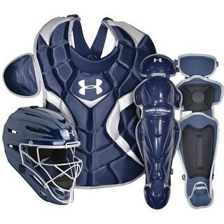 Under Armour Baseball PTH Victory Catching Kit (Navy/Senior Size/Ages 12-16)
