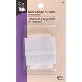 White - Tailor's Chalk & Holder W/Sharpener