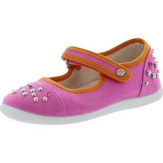 Naturino Girls 7889 Canvas Studded Flats Shoes - Fuchsia