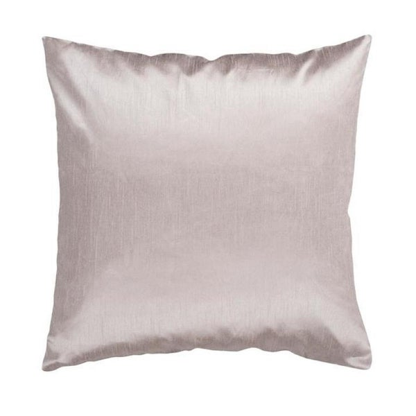 "18"" Shiny Solid Starlit Silver Decorative Down Throw Pillow"