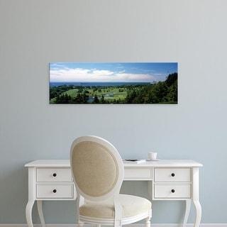 Easy Art Prints Panoramic Image 'Golf course, Grand Hotel, Mackinac Island, Mackinac County, Michigan' Canvas Art
