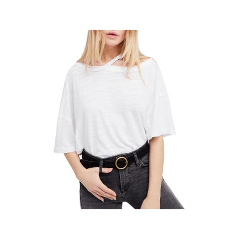 We The Free Womens Alex T-Shirt Cold Shoulder Slub