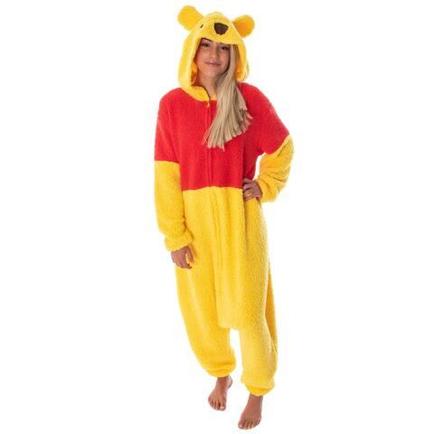 Disney Winnie The Pooh Kigurumi Adult Costume Union Suit Sherpa Pajama Outfit