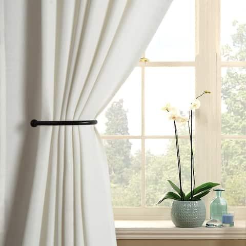 Deco Window (Set of 2) Holdback/Curtain Tieback Ball- Black Matt
