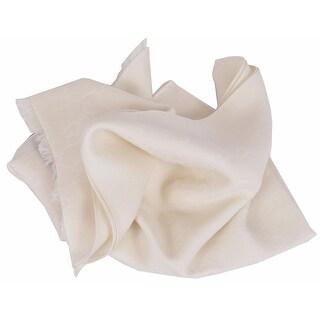 "Gucci Women's 165903 Cream White Wool Silk Large GG Guccissima Scarf - 28"" x 78"""
