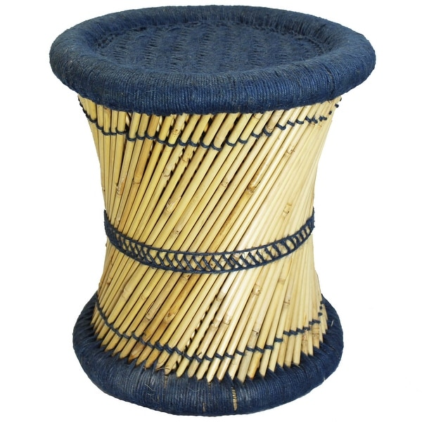 Natural Geo Moray Decorative Handwoven Jute Accent Stool. Opens flyout.