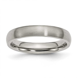 Chisel Rounded Brushed Titanium Ring (4.0 mm)