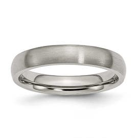 Chisel Rounded Brushed Titanium Ring (4.0 mm) https://ak1.ostkcdn.com/images/products/is/images/direct/444f84016a65fe6e7d6c8fdaaea13cd00fcd0a84/Chisel-Rounded-Brushed-Titanium-Ring-%284.0-mm%29.jpg?impolicy=medium
