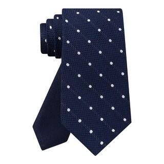 Tommy Hilfiger Mens Grenadine Neck Tie Silk Dot - o/s