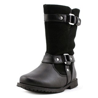 Rachel Shoes Lil Cortland Toddler Round Toe Synthetic Black Boot