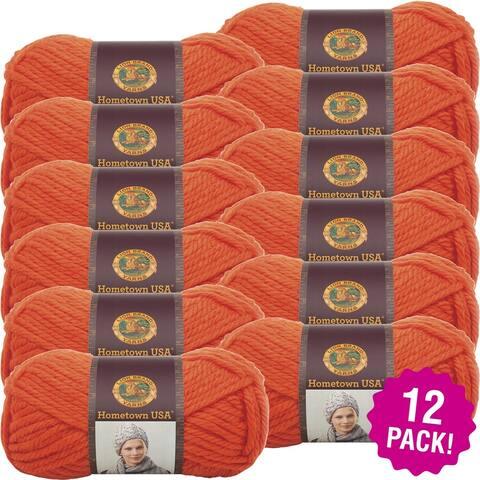Lion Brand Hometown Usa Yarn 12/Pk-Syracuse Orange' - Orange