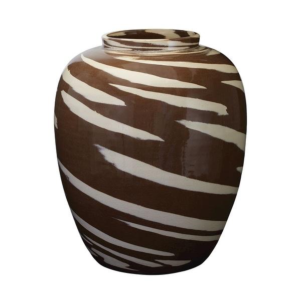 Elk Home 857077 Caramel Tiger Churn - Brown