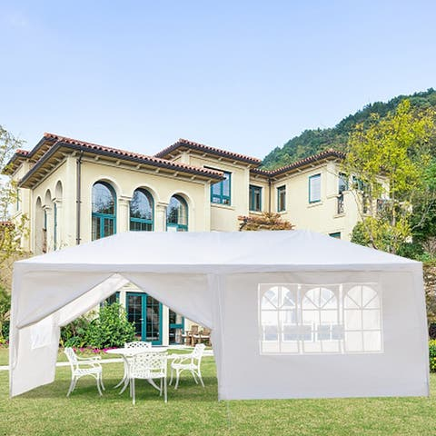 10 x 20 ft. Outdoor Wedding Party Tent with 6 Walls - 6 Walls