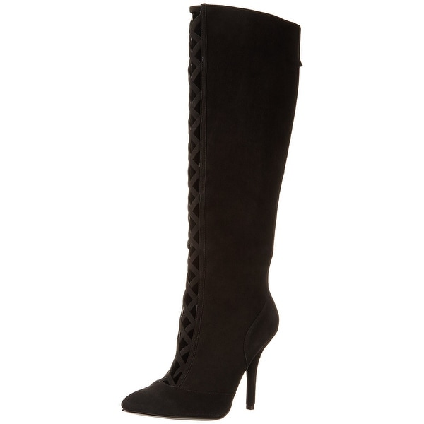Nine West NEW Black Jacobe Shoes 6.5M Knee-High Suede Boots