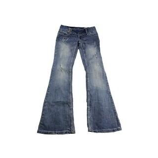 Ariya Jeans Juniors Blue Curvy Flare Jeans -