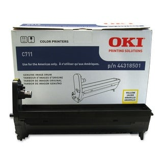 Oki Data 44318501 Image Drum For C711 Series Printers, 20000 Page Yield, Yellow
