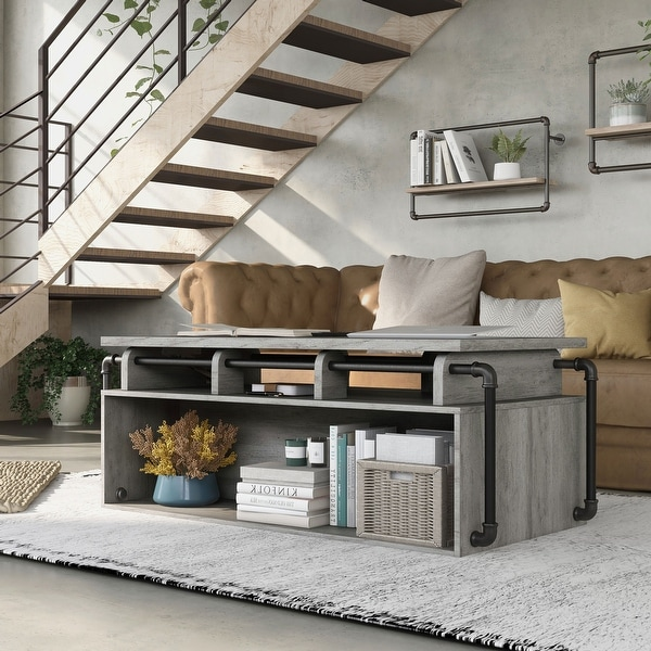 Carbon Loft Callis Industrial Lift Top Coffee Table. Opens flyout.