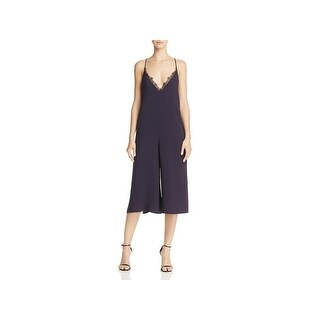 French Connection Womens Esther Jumpsuit Lace-Trim Sleeveless