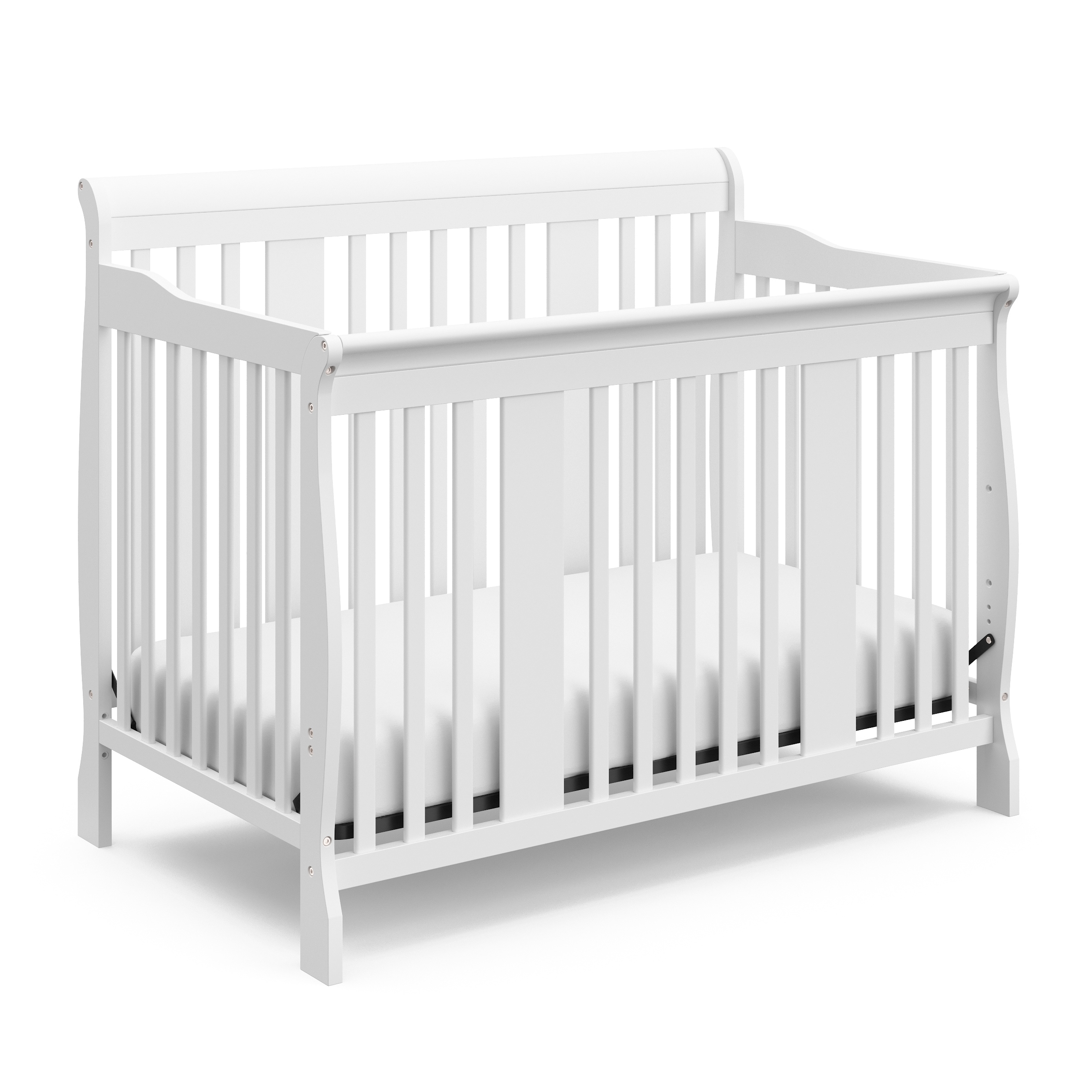 Shop Storkcraft Tuscany 4 In 1 Convertible Crib Converts To Toddler Bed Daybed And Full Size Bed 3 Adjustable Mattress Heights Overstock 23507884