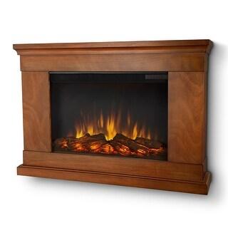 Real Flame 760E-P Jackson Slim Series 1400 Watt 4700 BTU Electric Fireplace - Pecan