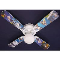 Radical Skateboarding Print Blades 42in Ceiling Fan Light Kit - Multi