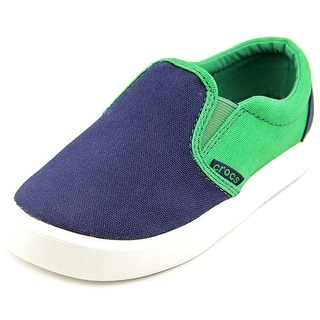 Crocs CitiLane Slip-on Youth Round Toe Canvas Blue Sneakers