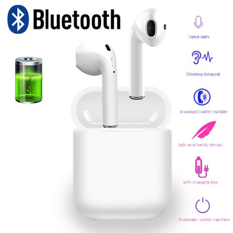 Best Wireless Sport Earphones w/ Mic Bluetooth 5.0 Auto Pairing Charging Box Long Life Battery - For iPhone & Android!