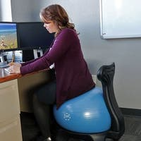 CASL Brands 52-Centimeter Yoga Ball Balance Chair with Pump for Home or Office
