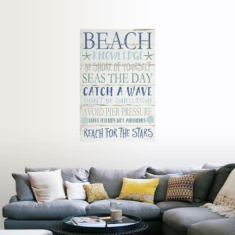 """Beach Knowledge"" Poster Print"