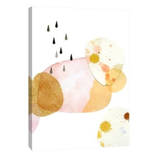 "PTM Images 9-105701  PTM Canvas Collection 10"" x 8"" - ""Pink Raindrop Cloud A"" Giclee Abstract Art Print on Canvas"