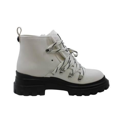 Calvin Klein Womens Lark Closed Toe Ankle Combat Boots