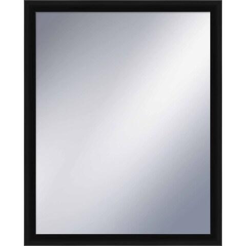 PTM Images 5-1227 31 inch x 25 Inch Rectangular Wood Framed Mirror - Black - N/A