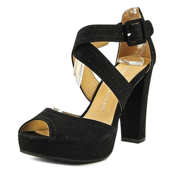 Chinese Laundry Abigail Women Open Toe Synthetic Black Platform Heel