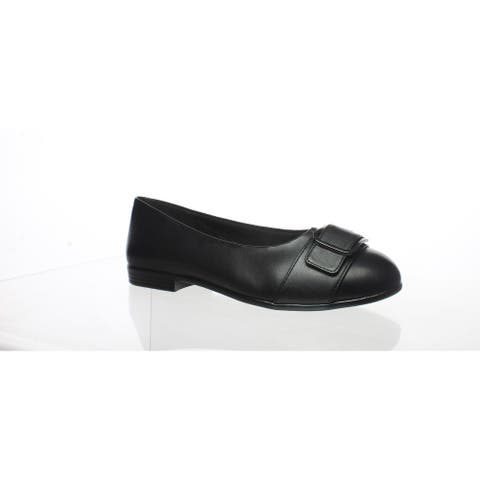 Trotters Womens Aubrey Black Ballet Flats Size 5